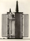 Diagram of the Oil scope in use inspecting electrical transformers, G.E., 1946.