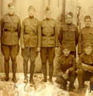 Lt. Col. Crampton (far left) 28th division, World War 1.