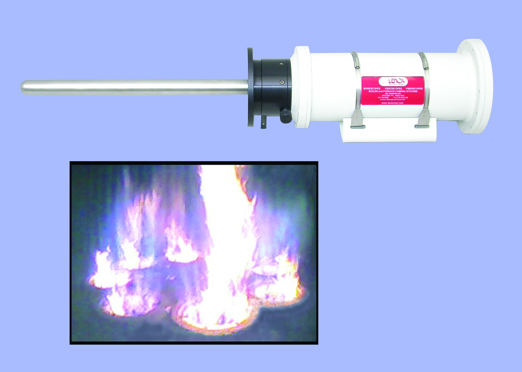 Fired Heater Camera System For Monitoring Burner